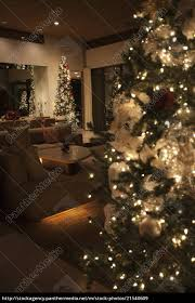 Royalty Free Image 21540609 Christmas Tree Lit With Fairy Lights