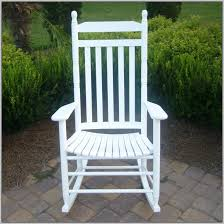 outdoor white wooden rocking chairs