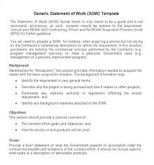 Statement Of Work Example Project With Regard To Government ...