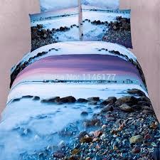 beach scene duvet covers ywxuege stones 3d oil 4pcs bedding set bedspread bed linensthe beach beach