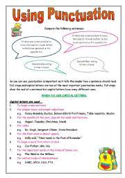 Punctuation What And How Do I Use It Esl Worksheet By Sarah Lee