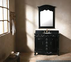 traditional black bathroom. Classic Nuance Of Traditional Bathroom Equipped With Black Vanity And Also Wall Mirror R
