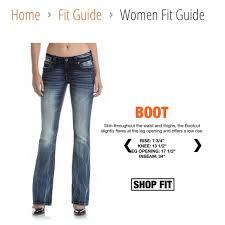 Rock Revival Jeans Size Chart Women S Rock Revival Fit Guide Based On 26 From Their Cite