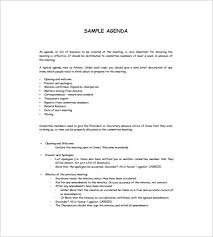 How To Write An Agenda Of A Meeting Simple Agenda Template 8 Free Word Excel Pdf Format