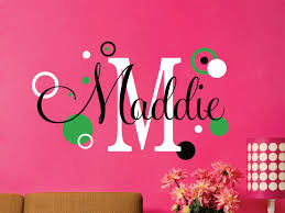 Baby Name Wall Designs Childrens Decor Name Wall Decal Large Size Baby Name