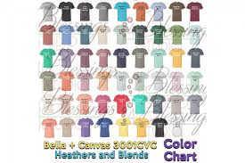 Bella Canvas 3001cvc Color Chart 2019 Updated Heathers Blend