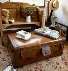 Old VINTAGE Railway TRUNK Cabin TRAVEL TRUNK Suitcase coffee table | eBay  UK | eBay.