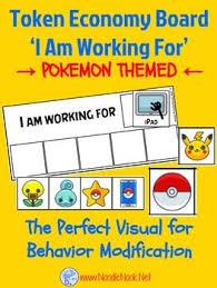 Pokemon Behaviour Chart Token Economy Visual Behavior Modification Featuring