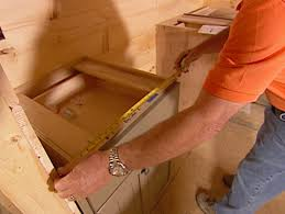 measure the cabinet layout and make template