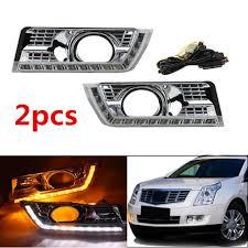 2012 Cadillac Srx Fog Lights For Cadillac Srx 2012 2016 Fog Lamp Led Drl Daytime Running