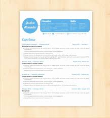 Ms Word Resume Templates New Free Creative Resume Templates For Word