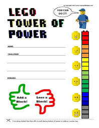 Lego Tower Of Power Reward Chart Lego Reward Chart Printable And Other Ideas Printable