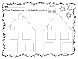 Mrs Brinkmans Blog Math Fact Families Family Worksheets ...