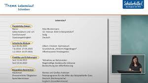 Bewerbungsschreiben Lebenslauf Schreiben Deutsch