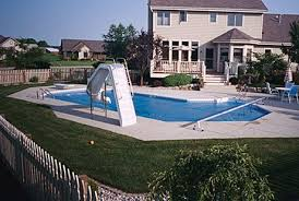 inground pools with diving board and slide. Slide Diving Board. Grecian Pool Lake Mills Inground Pools With Board And D