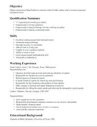 Cashier Resume Description Enchanting Resume Sample For Cashier Rabotnovreme