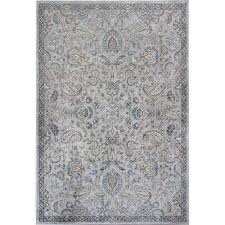 kas oriental rugs provence silver and blue rectangular 2 ft 2 inch x 3 ft 7 inch