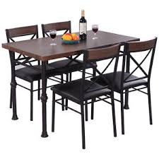 Image is loading 5PieceDiningSetTableAnd4Chairs