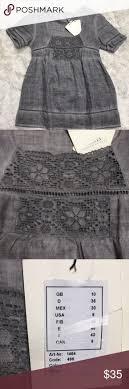 NWT Malvin linen shirt grey sz 6 <b>boutique unique Designer fashion</b> ...