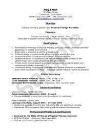 Sample Physical Therapy Resume Physical Therapy Resume Samples Thebridgesummit Co With Resume 7
