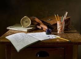 still life retro ink table