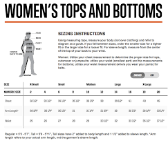 5 11 Womens Clothing Size Charts G A Tactical