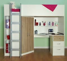 Cambridge High Sleeper Bed inside High Sleeper Cabin Bed With Wardrobes  (Image 3 of 15