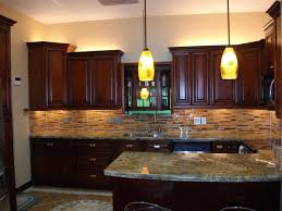 Small Picture Dark cherry kitchen cabinets