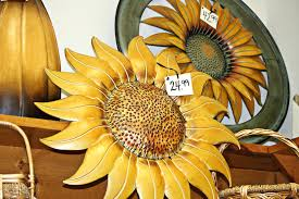 sunflower metal wall art decor