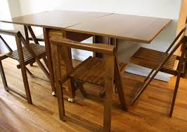 Dining Room Collapsible Dining Table And Chairs On Dining Room Pertaining  To Fold Away Table And