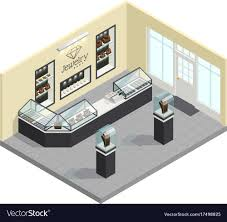 Jewellery Shop Design Requirements Jewelry Shop Isometric Interior