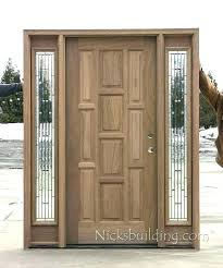 exterior wood doors with glass front sterling and wooden door entry w