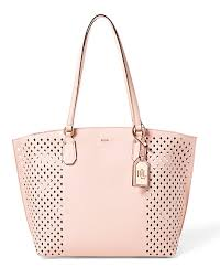 Diamond-Perforated Tanner Tote