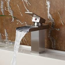 elite 8813bn brushed nickel water fall single lever basin sink faucet
