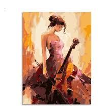 cello <b>diy painting</b>