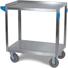 uc7022133 2 shelf stainless steel utility cart 700 lb capacity 21 w x 33 l stainless steel