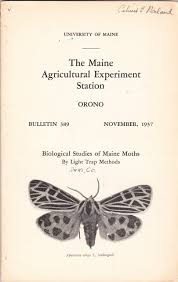 Moth Light Traps Amazon Biological Studies Of Maine Moths By Light Trap Methods The