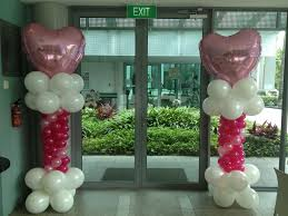 Columns For Decorations Advance Balloon Columns Heart That Balloons