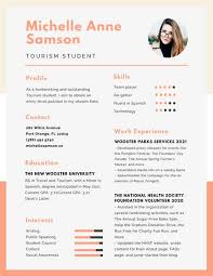 Canva Resume Unique Customize 60 College Resume Templates Online Canva