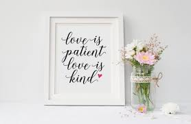 Love Is Patient Love Is Kind Love Never Fails Love Quote Etsy Amazing Love Is Patient Love Is Kind Quote