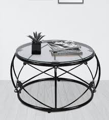 darcy round coffee table with glass top