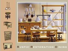 mid century modern dining and style set sims 3 download. rustic restoration dining by cashcraft - sims 3 downloads cc caboodle mid century modern and style set download
