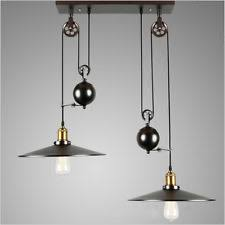 retractable lighting. adjustable wire retractable lights industrial vintage pulley pendant lamp loft lighting o