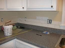Diy Tile Kitchen Backsplash How To Install Kitchen Subway Tile Backsplas Kitchen Remodels