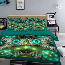details about 3d green light 816 bed pillowcases quilt duvet cover set single queen uk kyra