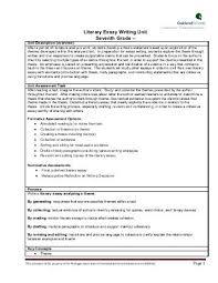 literary essay grade writing unit  literary essay writing unit seventh grade