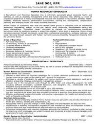 Ideas of Hr Generalist Sample Resume Also Reference