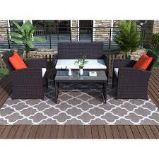 4 piece patio furniture sets clearance