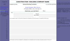 Invoice Template Excel 2003 Download Construction Proposal Free Invoice Template In