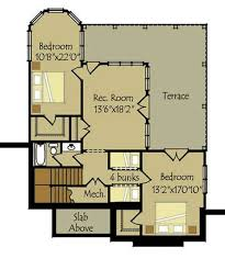 Small Basement Design Magnificent Small Cottage Plan With Walkout Basement Cottage Floor Plan